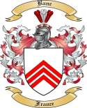 Bane Family Coat of Arms from France