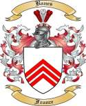 Banes Family Coat of Arms from France