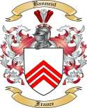 Bannent Family Crest from France