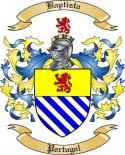 Baptista Family Coat of Arms from Portugal