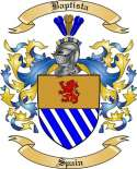 Baptista Family Coat of Arms from Spain