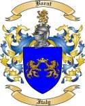 Barat Family Crest from Italy