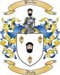 Barba Family Coat of Arms from Italy