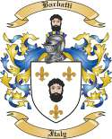 Barbatti Family Crest from Italy