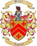 Barber Family Crest from England2