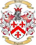 Barber Family Crest from England