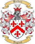 Barbers Family Coat of Arms from England