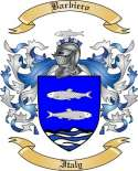 Barbiero Family Crest from Italy