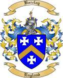 Barclay Family Coat of Arms from England