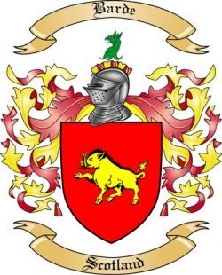 Barde Family Crest from Scotland