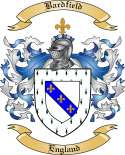 Bardfield Family Coat of Arms from England