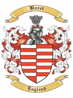 Baret Family Coat of Arms from England