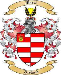 Baret Family Coat of Arms from Ireland