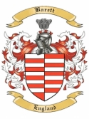 Barett Family Coat of Arms from England