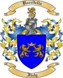 Barettella Family Coat of Arms from Italy