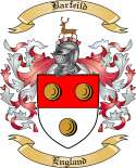Barfeild Family Crest from England