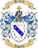 Barfield Family Coat of Arms from England