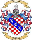 Barkas Family Coat of Arms from England