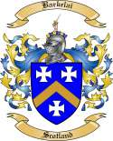 Barkelai Family Coat of Arms from Scotland