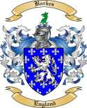 Barkes Family Coat of Arms from England