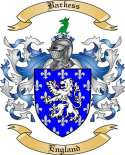 Barkess Family Crest from England