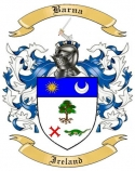 Barna Family Crest from Ireland