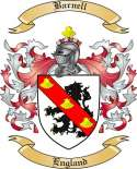 Barnell Family Coat of Arms from England