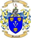 Barnes Family Coat of Arms from Scotland