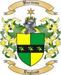 Barness Family Crest from England