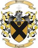 Barnet Family Crest from England