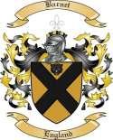 Barnet Family Crest from England
