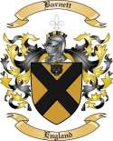 Barnett Family Crest from England