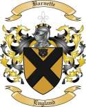 Barnette Family Coat of Arms from England