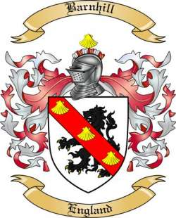 Barnhill Family Coat of Arms from England