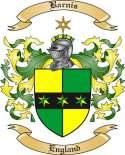 Barnis Family Coat of Arms from England