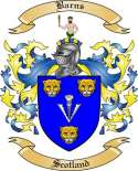 Barns Family Coat of Arms from Scotland
