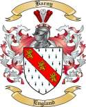 Barny Family Crest from England2