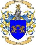 Barratti Family Crest from Italy