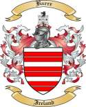Barre Family Crest from Ireland