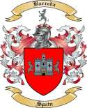 Barreda Family Crest from Spain