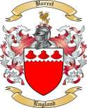 Barret Family Crest from England