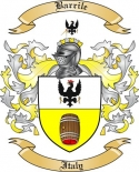 Barrile Family Crest from Italy