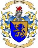 Barringer Family Crest from France