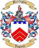 Barrington Family Coat of Arms from England