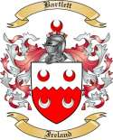 Bartlett Family Crest from Ireland