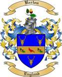 Barton Family Coat of Arms from England