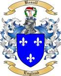 Basall Family Coat of Arms from England