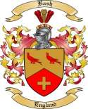 Bash Family Crest from England