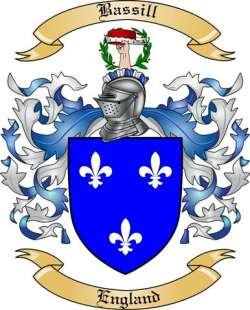 Bassill Family Crest from England