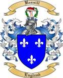 Bassill Family Coat of Arms from England